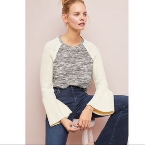 Anthropologie Dolan Bell-Sleeved Raglan Sweater